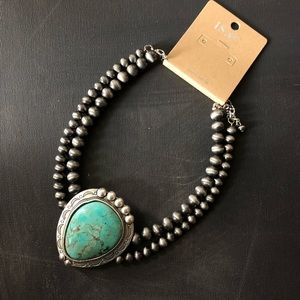 NWT - Southwest Natural Turquoise Choker Necklace